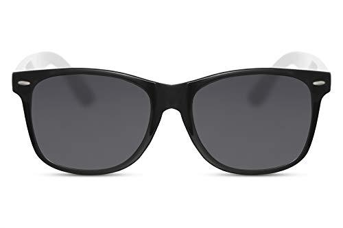 Cheapass Occhiali da Sole Classici Splendidi con una Montatura Nera da Fuori e una Montatura Bianca da Dentro con Lenti Scure UV400 da Uomo e Donna
