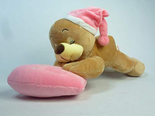 3320 rosa, oso de peluche durmiendo de 37 cm con gorro rosa...