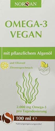 NORSAN Omega-3 VEGAN I 2.000 mg Omega-3 und 800 IE Vitamin D3 I 100{0a142e40c88a40731466f3e4451c0003000fec58d5c1ae931d4642d9bf2aa929} vegan I pflanzliches Algenöl I besonders reich an EPA & DHA I umweltschonend hergestellt I von Natur aus schadstoffarm