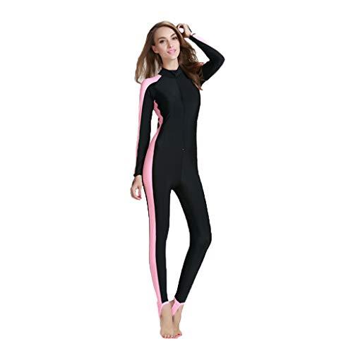 iYmitz Herren Damen Wetsuit UV-Anzug Schutz Schwimmanzug Overall Watersport Schnorchelanzug Surfanzug(Rosa,4XL)