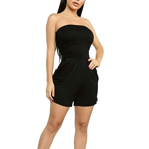 ZZZXIAN Bodysuit dames sexy rood zwart schoudervrij, jumpsuits dames zomer kort mouwloos overalls dames elegante party slabbroek vrouwen Nauw