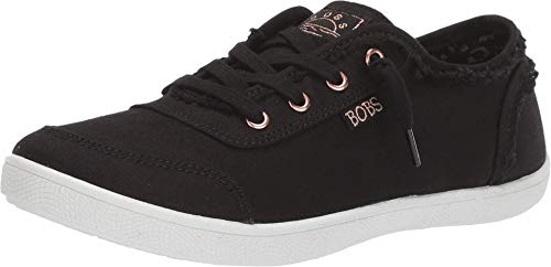 Skechers BOBS Women's Bobs B Cute Sneaker, Black, 8.5 M US