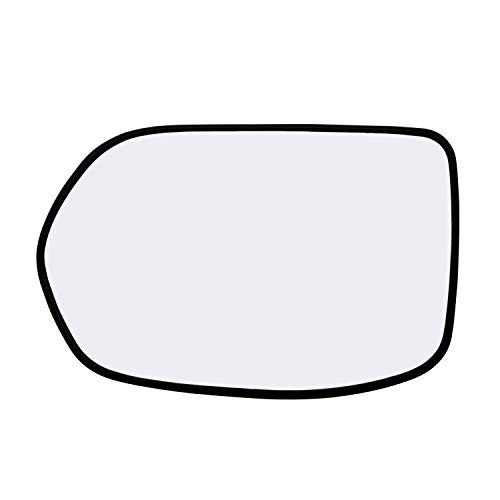 Left Hand Driver Side Mirror Assembly Plastic Backing Plate Heated Defrost Glass Compatible With 2007 2008 2009 2010 2011 Honda CR-V CRV 7-5/8 Inch Diagonal Sold By Rugged TUFF