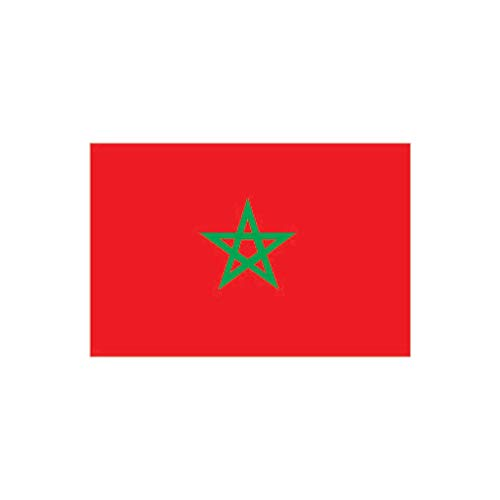 inking house Set von 2 x Marokko-Flagge zum Aufbügeln, Siebdruck, für Stoff, maschinenwaschbar, marokkanische Flagge