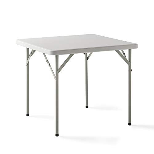 KG KitGarden - Mesa Plegable Multifuncional, 84x84x74cm, Blanco, Folding C84