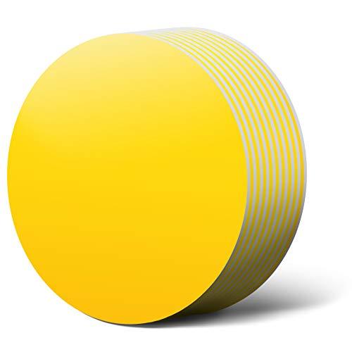 LLPT Imanes regrabables 10 Paquetes de 10 cm Redondos sin dañar Ninguna Superficie Pegatinas Autoadhesivas Blancas mágicas para pizarras Blancas Pizarras magnéticas de Color Amarillo (REY440)