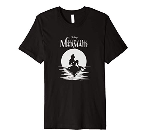 Disney The Little Mermaid Ariel Moon Silhouette Sitting Premium T-Shirt