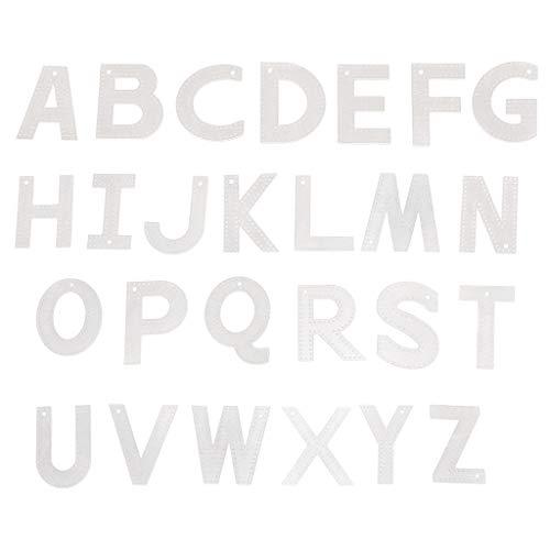 Wanfor Schmuckherstellungswerkzeuge, 26 Stück DIY Lederwaren Leder 26 englische Buchstaben Schlüsselanhänger Anhänger Form Schnittmuster Acryl Vorlage Kit Lederform