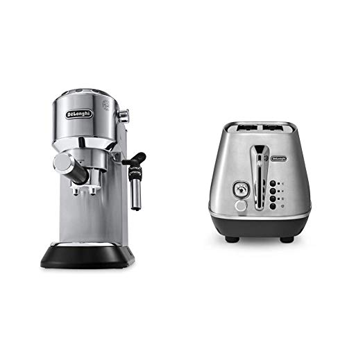 De'Longhi Dedica EC685.M Macchina da Caffè Espresso Manuale e Cappuccino + De'Longhi CTI2103.M Tostapane