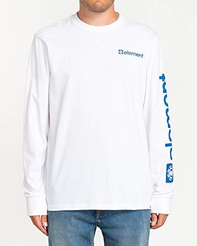 Element Joint - Maglietta A Maniche Lunghe da Uomo Maglietta A Maniche Lunghe, Uomo, Optic White, XS