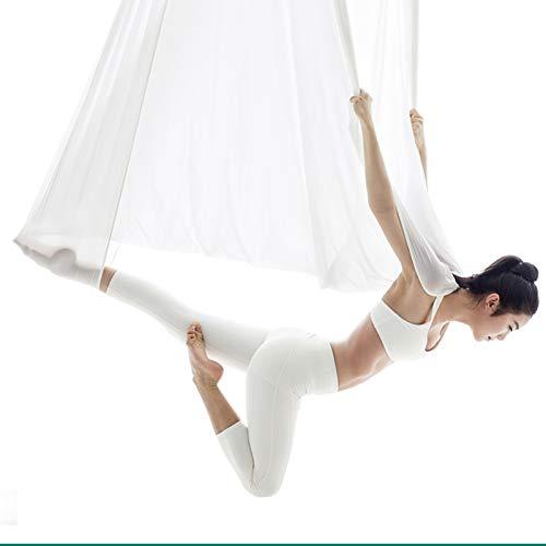 Columpio sensorial Hamaca de yoga para el ejercicio del cuerpo Swing de yoga Conjunto con 2 correas de extensión fácil de instalar el columpio de yoga aérea duradero para adultos en casa gimnasio y ap