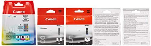 Canon Sparset 5 ORIGINAL-Tintenpatronen wie Bild (je 1 x PGI-5bk, CLI-8bk, CLI-8c, CLI-8m, CLI-8y)