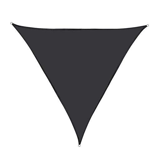 YJXCC Oxford Tela Triángulo de la Cortina de Sun Sail Nets Sun Refugio Cubierta Impermeable al Aire Libre Toldo Toldo (Color : Negro, Size : 30cm)