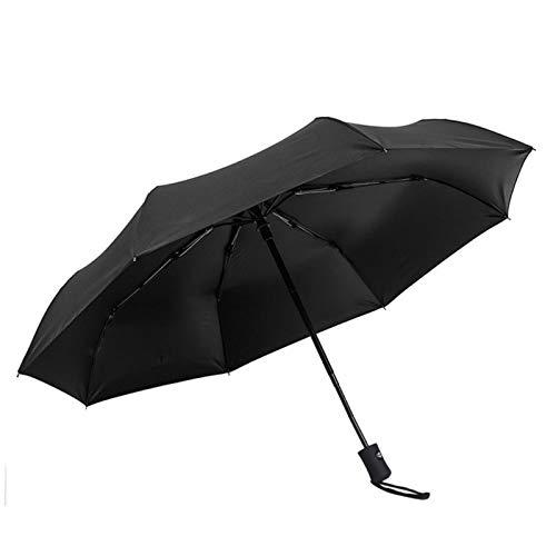 El paraguas automático de hueso está doblado triple diez