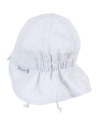 Sterntaler Berretto bebé con Visiera e Protezione Nuca Cappellino, Bianco (Weiss 500), (Taglia Unica: 39) Bimba