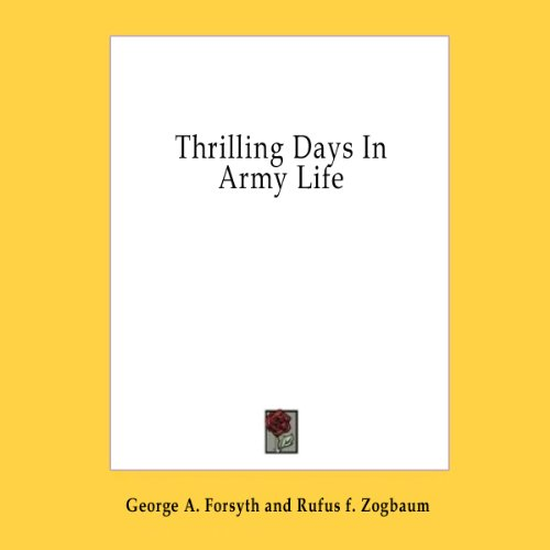 Thrilling Days in Army Life copertina