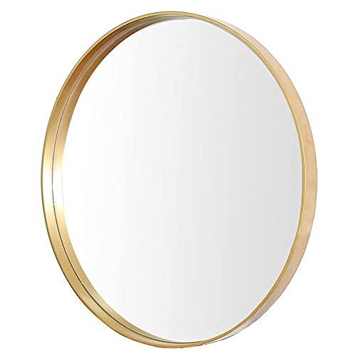 FHISD Espejo de baño impermeable de la decoración, espejo decorativo de la pared del maquillaje, espejo redondo colgante de la pared del cuarto de baño, espejo de afeitar