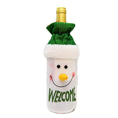 Bottiglia di vino di Natale borse, Christmas Deer Santa Claus Snowman abbigliamento Dress party decorazione della tavola di Natale