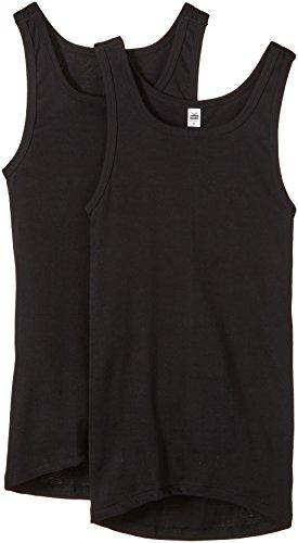 Trigema Herren 6854002 Unterhemd, Schwarz (schwarz 008), Large (Herstellergröße: 7) (2er Pack)