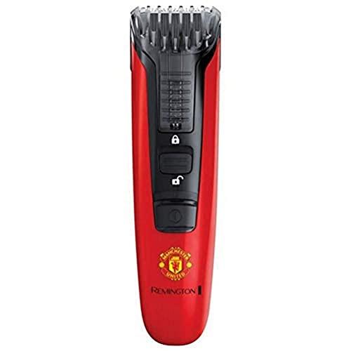 Remington Barttrimmer Herren MB4128 Manchester United Edition (hochwertige Edelstahlklingen, Akkubetrieb, 9 Längeneinstellungen für verschiedene Bartstyles) Bartschneider