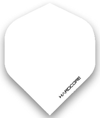 RED DRAGON Hardcore XT Weiß Extra Dicke Standard Dart Flights - 5 Sätze pro Packung (15 Dart Flights insgesamt)