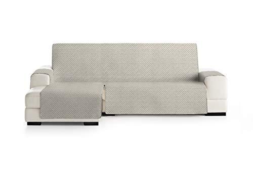 Eysa Mist Funda, Poliéster, Beige/Gris, Chaise Longue 240cm. Válido para sofá Desde 250 a 300cm