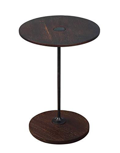 CENPEN Nórdico de madera maciza Mesa de Sofá gabinete lateral creativo moderno minimalista mesa redonda Pequeño
