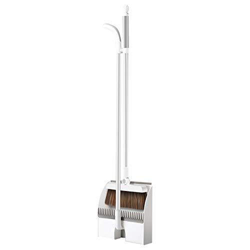 Juego de recogedor y cepillo magnético para escoba AIHOME, recogedor con cepillo combinado, mango largo para limpieza de suelos de cocina, hogar, oficina, vestíbulo, escoba y recogedor
