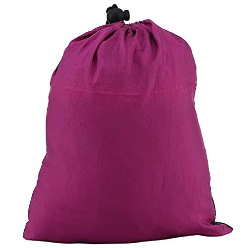 KUIDAMOS Hamaca para Dormir Columpio Transpirable Columpio Cama Giratorio de Nailon para jardín, Patio, Parque, Porche para Acampar, Viajes(Purple Fight Dark Green)