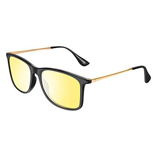 VVA HD Nachtsicht-Sportbrille polarisierte Brille für Männer und Frauen zum Fahren Ultraleichter UV-Schutz V103(Nachtsicht 1)