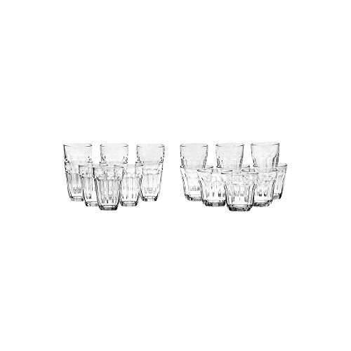 HomeStop Pasabache Round Transparent Tumblers Set of 18 (Clear_Free Size)