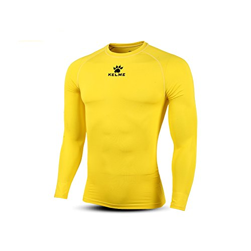 KELME Adult Thermical L/S Tshirt Camiseta Térmica para Hombre, goldem Yellow, XL