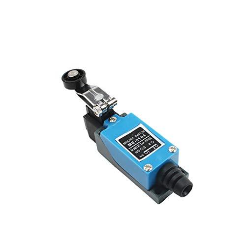 interruptor giratorio ME-8108 interruptor de límite giratorio de rodillos ajustable Mini fin de carrera TZ-8108 AC250V 5A NO NC 8108 8104 8111 8112 8122 8166 9101 ( Color : ME 8104 , Size : 1NO 1NC )