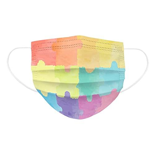 Zonary 10/50 Stück Mundschutz Erwachsene Einweg 3-lagig mit Motiv Sternenhimmel Farbverlauf Mund Nasenschutz Druck Tücher Atmungsaktiv Mund-Tuch Bandana Halstuch Schals für Männer Frauen