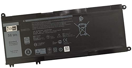 7XINbox 15.2V 56Wh 3500mAh 33YDH PVHT1 Replacement Laptop Battery for DELL Inspiron 17 7778 7779 7773 15 7577 G3 15 3579 17 3779 P30E Series