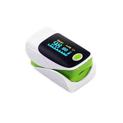 Blutoximeter Fingerclip Oximeter Blutsauerstoffkonzentration Detektion Pulsmessgerät Oximeter mit großem Bildschirm Grün