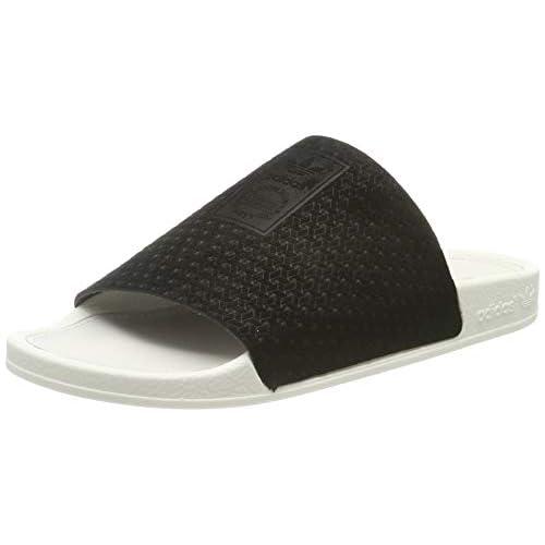 adidas Adilette Luxe W, Scarpe da Spiaggia e Piscina Donna, Nero (Core Black/Core Black/off White Core Black/Core Black/off White), 37 EU