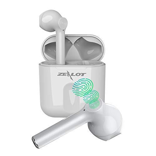 ZEALOT Cuffie Bluetooth Auricolari Bluetooth 5.0 Senza Fili Sport con Controllo Touch, 25 ore di riproduzione, Bassi Potenziati, Microfoni Integrati, Custodia da Ricarica, per lavoro e viaggio