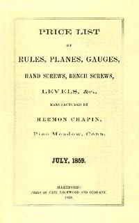 H. Chapin 1859 Price List