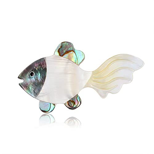 HCMA Naturale colorato Abalone Shell Sea Animal Spille per Gli Uomini Cute Fish Spilla Collare Pins Gioielli per Feste