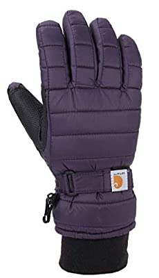 Carhartt Women's Quilts Insulated Breathable Glove with Waterproof Wicking Insert, Nightshade, Small