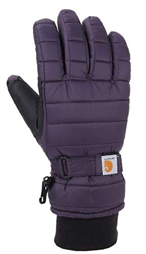 Carhartt Women's Quilts Insulated Breathable Glove with Waterproof Wicking Insert, Nightshade, Medium