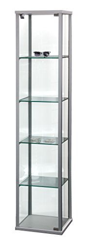Dila GmbH Glasvitrine mit Holzabschlüsse Vitrine Vitrinenschrank Verkaufsvitrine Glasvitrine Standvitrine Sicherheitsglas Ladeneinrichtungen