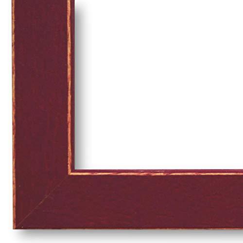 Online Galerie Bingold Bilderrahmen Bamberg in Wein-rot 1,9 I 24 x 30 cm & Normalglas (WRF) I handgefertigte Holz Posterrahmen I Holzrahmen & Glas inkl. Montagematerial