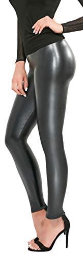 Firstclass Trendstore Leggings in Lederoptik Gr. S - XXL, Leder-Look Leggins Damenhose Hose Skinny Lederlook (Elen L)