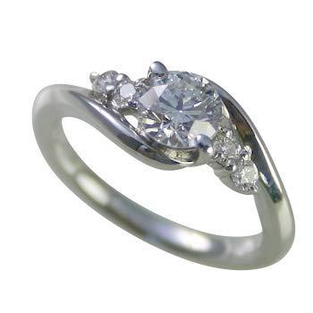 婚約指輪 ケース付 ダイヤモンド プラチナ 0.4カラット 鑑定書付 0.411ct Fカラー VVS2クラス 3EXカット H&C CGL サイズ14号
