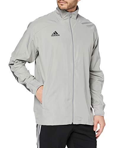 adidas CON20 PRE JKT Sport Jacket, Hombre, Team Mid Grey/Black, L