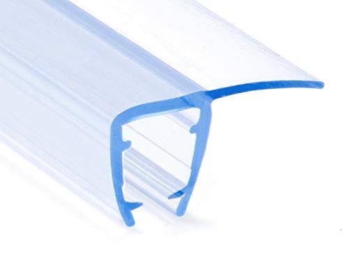 DQ-PP Duschdichtung 100cm | Dichtung für 6mm – 8mm Glastür Stärke | UK02 | Wasserablaufprofil Wasserabweisprofil | Duschkabinen Duschabdichtung Duschwand | Ersatzteile für Duschkabine | Transparent