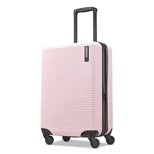 American Tourister Stratum XLT Expandable Hardside Luggage with Spinner Wheels, Pink Blush, Carry-On 21-Inch
