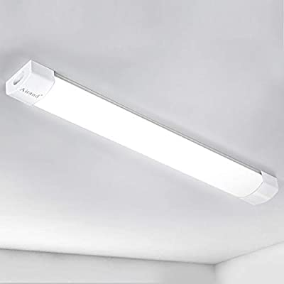 Led Shop Light Fixture Airand 5FT 45W Under Cabinet Lighting Linkable Led Garage Light 5000K Waterproof Surface Mount Led Ceiling Light for Kitchen,Hallway,Corded Electric with Built-in ON/Off